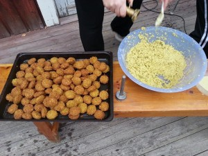 """Höstens tema """"smak av mellanöstern"""" Falafel a´la Farida på menyn"""